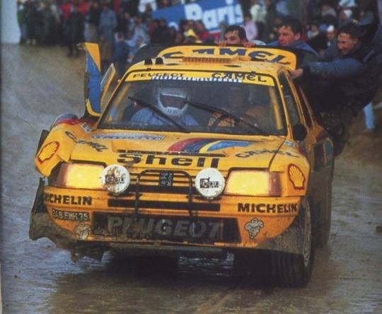 Ari Vatanen Peugeot 205Turbo16 Grand Raid Paris - Dakar 1987
